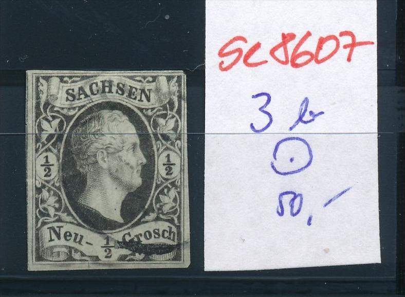 Sachsen  Nr. 3 b   o   (se8607 ) siehe Bild
