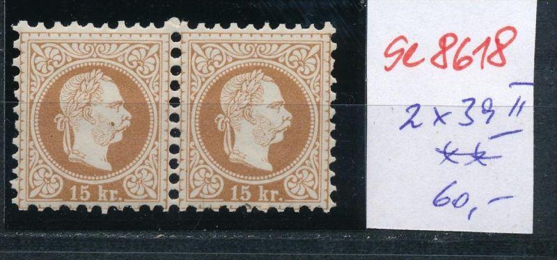 Österreich Nr. 2x 39 II **   (se8618 ) siehe Bild