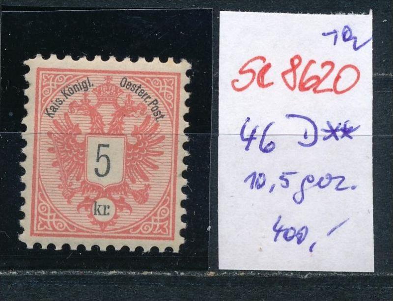 Österreich Nr.  46 D **   (se8620   ) siehe Bild