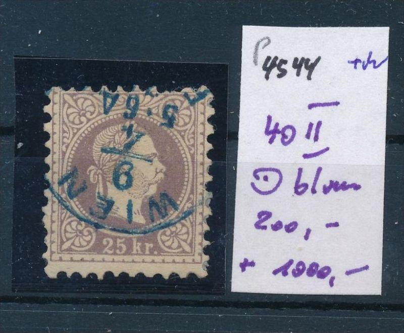 Österreich Nr. 40 II blauer Stempel   (p4544  ) siehe Bild