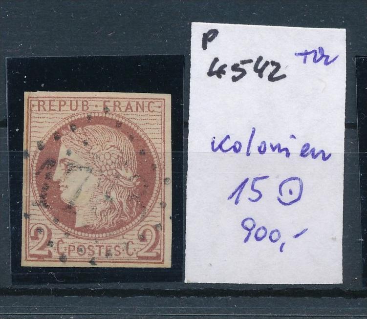 Frankreich Kolonien Nr. 15 o   (p4542  ) siehe Bild