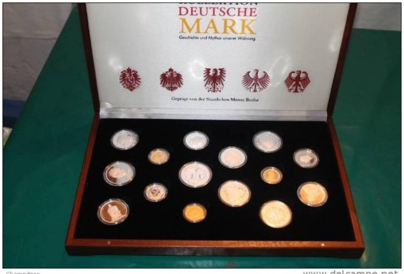 Sammlung  Geschichte und Mythos unserer Währung  Gold und Silber  in Schmuckschatulle(x1227)