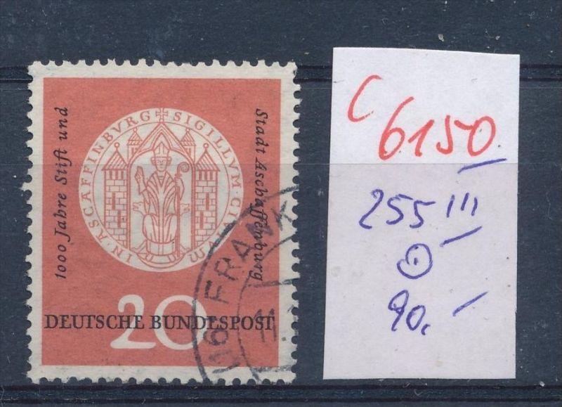 BRD  Nr.  255 III o    (c  6150 ) -siehe Bild