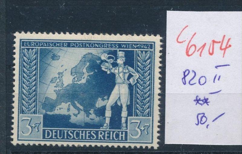 D.-Reich   Nr.  820  II  **    (c  6154 ) -siehe Bild