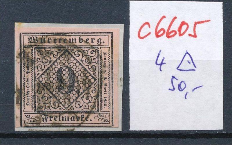 Würtemberg Nr. 4  o (c 6605 ) -siehe Bild