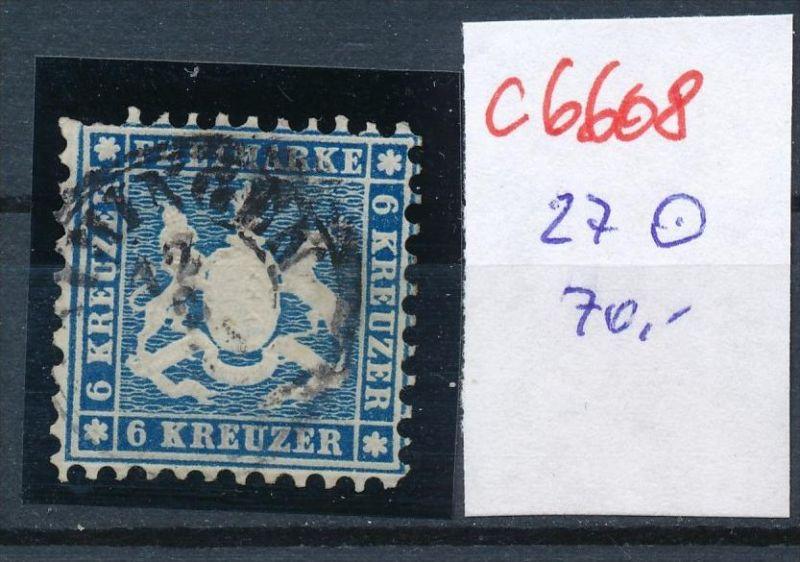 Würtemberg Nr. 27  o   (c 6608 ) -siehe Bild