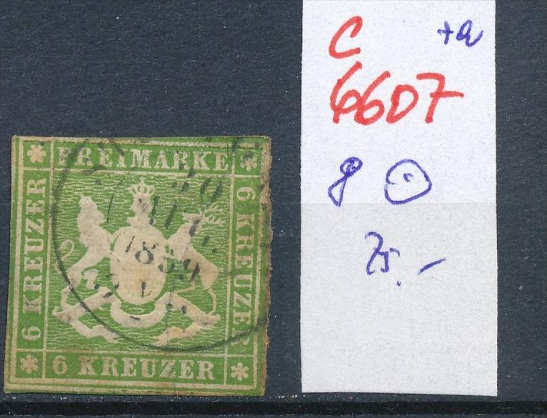 Würtemberg Nr. 8  o fleckig  (c 6607 ) -siehe Bild