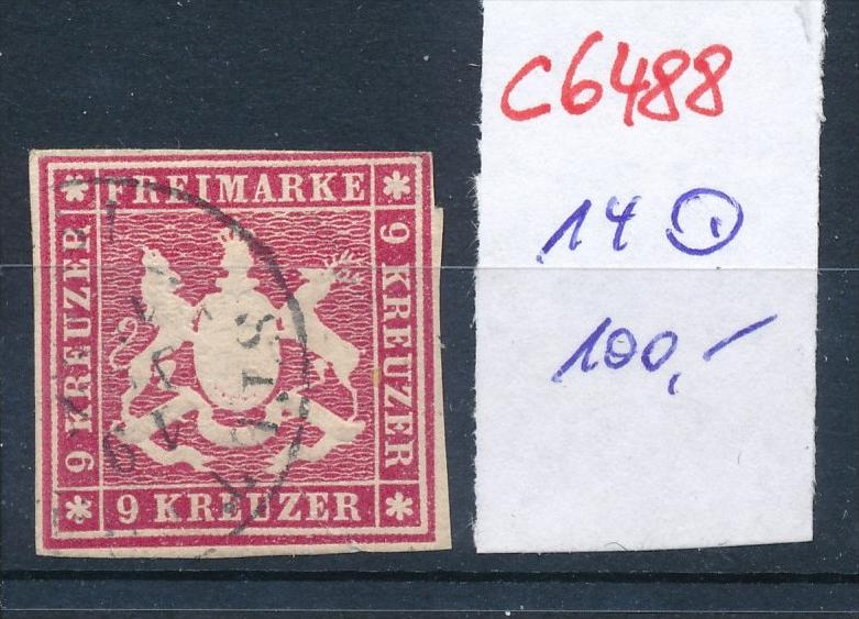 Würtemberg  Nr. 14   o   (c6488 ) -siehe Bild