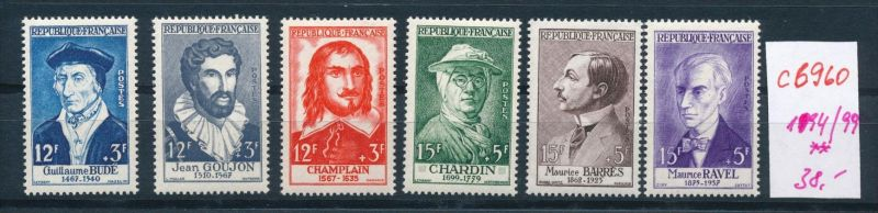 Frankreich Nr.1094-99    ** (c6960  ) siehe scan