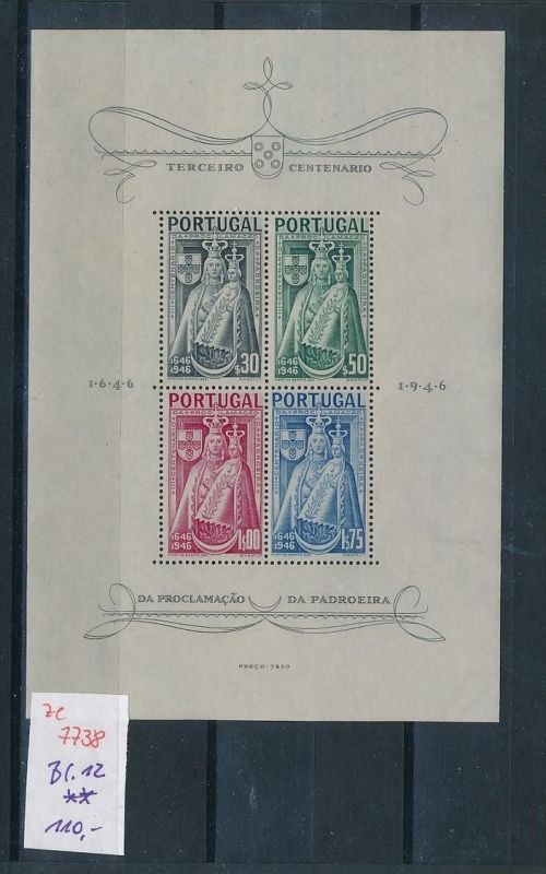 Portugal  Block 12  **   (ze7738 ) siehe scan