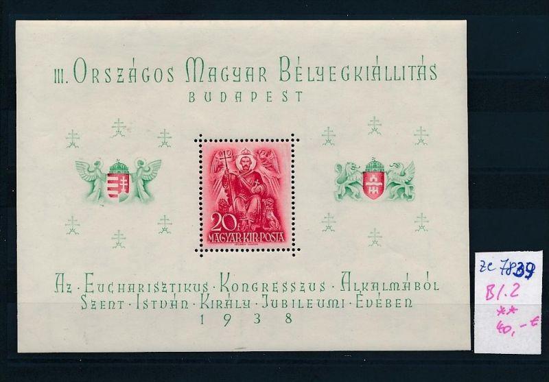 Ungarn   Block  2  **..(ze7839  ) siehe scan