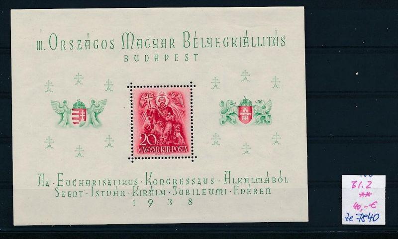 Ungarn   Block  2  **..(ze7840  ) siehe scan
