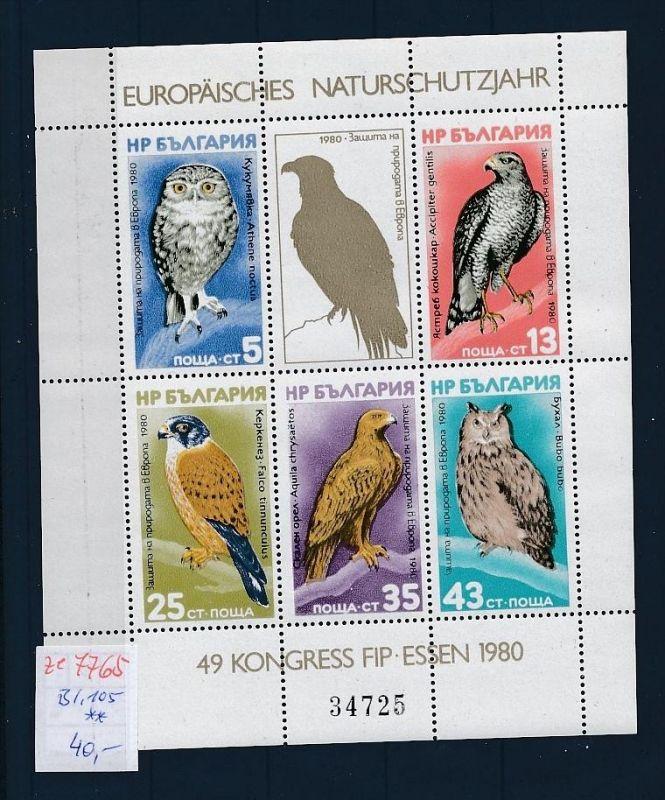 Bulgarien   Block  105  **  .(ze7765  ) siehe scan