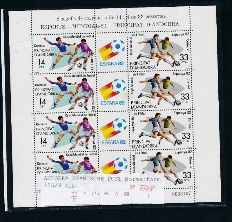 Andorra   Block  585-6 **  .(ze7778  ) siehe scan