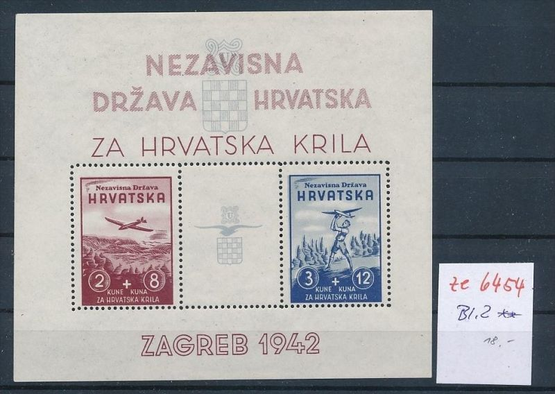 Kroatien Block  2   ** (ze6454   ) siehe Bild !