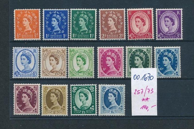 UK Nr. 257-73  **     (oo1670 ) siehe scan
