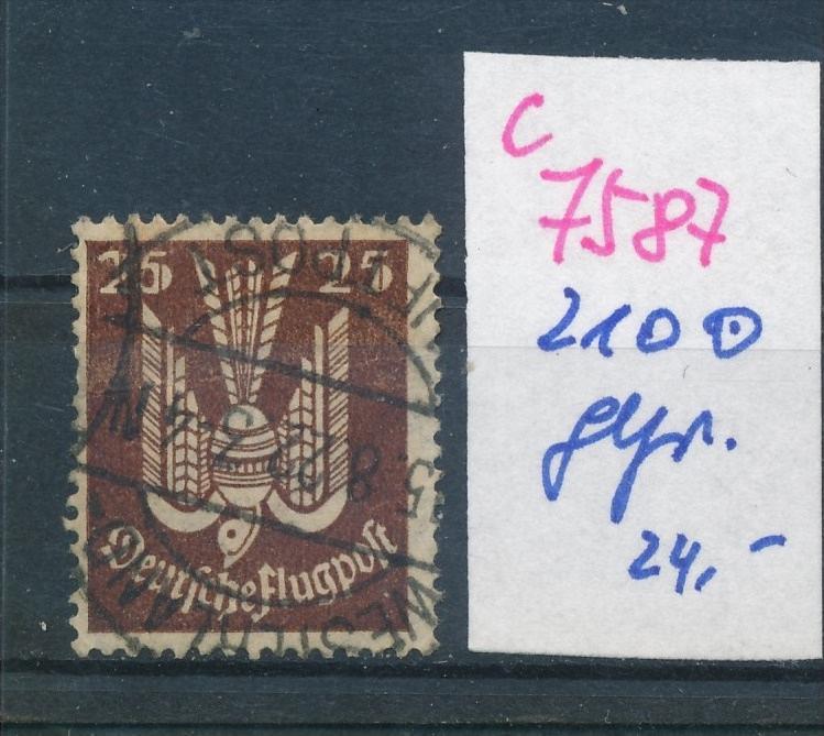 D.-Reich Nr.  210  geprüft   o (c 7587 ) siehe scan