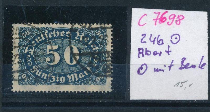D.-Reich Nr. 246 PLF   o   (c7698 ) siehe scan