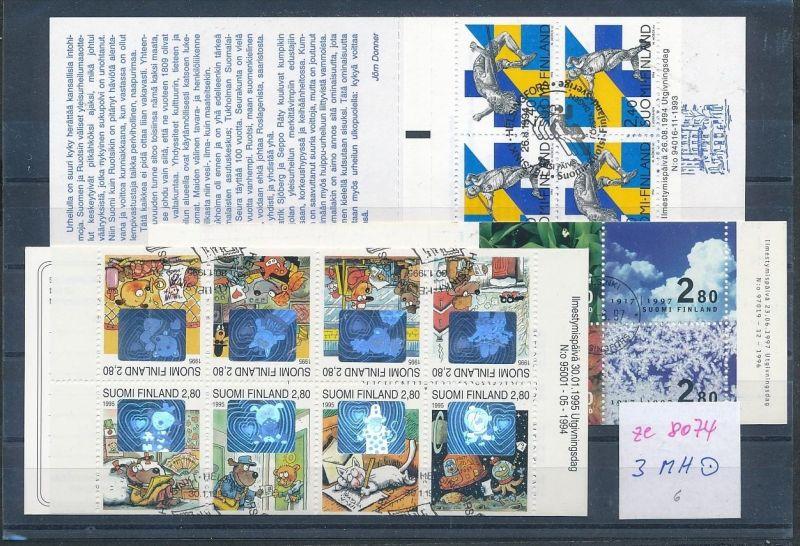 Finnland Lot  3 Marken Hefte  o   (ze8074  ) siehe scan