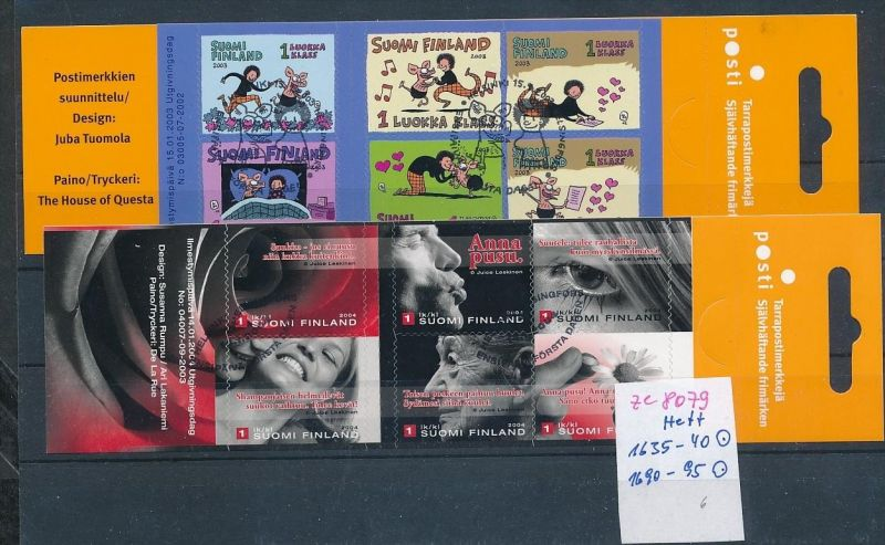 Finnland Lot  2 Marken Hefte  o   (ze8079  ) siehe scan