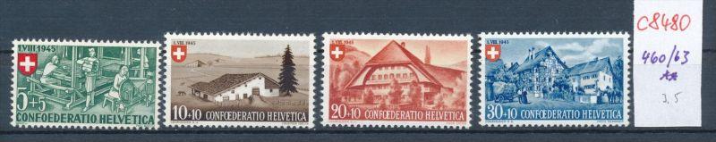 Schweiz   Nr. 460-3  ** (c8480  ) siehe scan