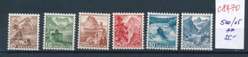 Schweiz   Nr. 500-05 ** (c8470  ) siehe scan