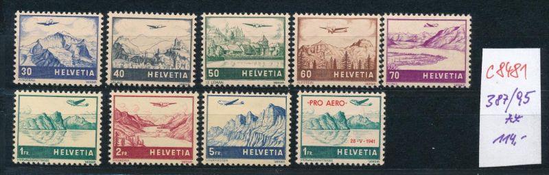 Schweiz   Nr. 387-95   ** (c8481  ) siehe scan