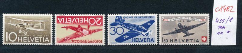 Schweiz   Nr. 435-8  ** 436 * (c8482  ) siehe scan