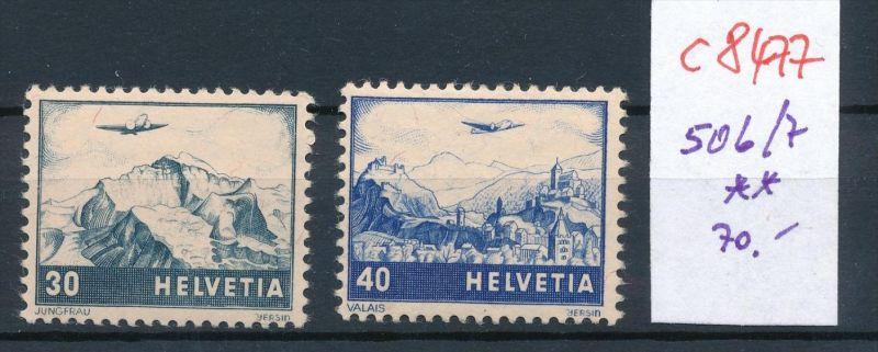 Schweiz   Nr. 506-7   ** (c8477  ) siehe scan
