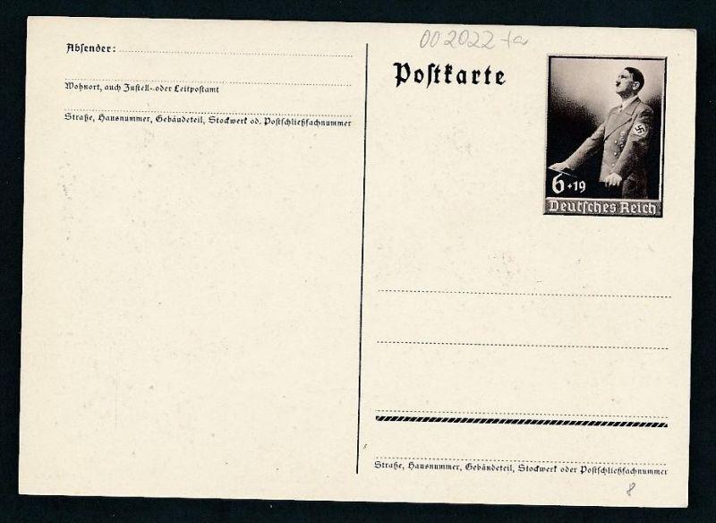 D.-Reich Ganzsache....  (oo2022  ) siehe scan