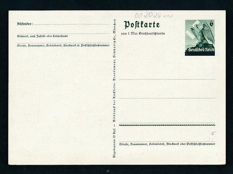 D.-Reich Ganzsache....  (oo2024  ) siehe scan