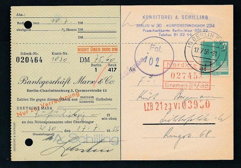 Berlin  Postscheck Karte   .(t5095  ) siehe scan