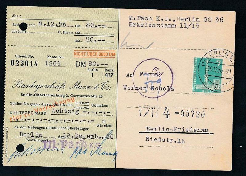 Berlin  Postscheck Karte   .(t5083  ) siehe scan
