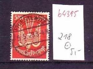 D.-Reich Nr. 218 o  (b4395 ) siehe Bild