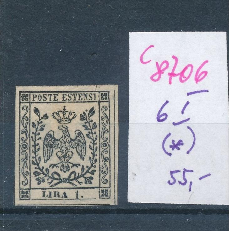 Modena   Nr.  6 I(*)  (c8706  ) siehe scan