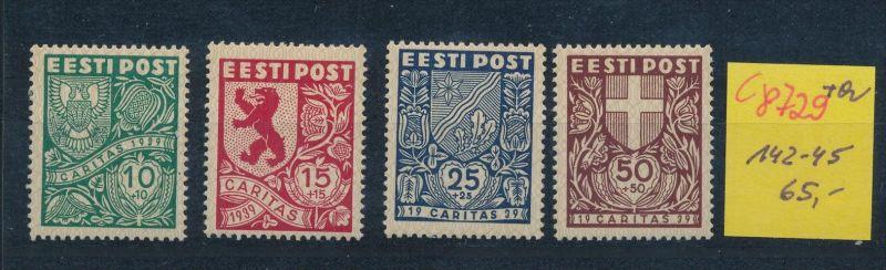 Estland    Nr.  142-45   (c8729  ) siehe scan