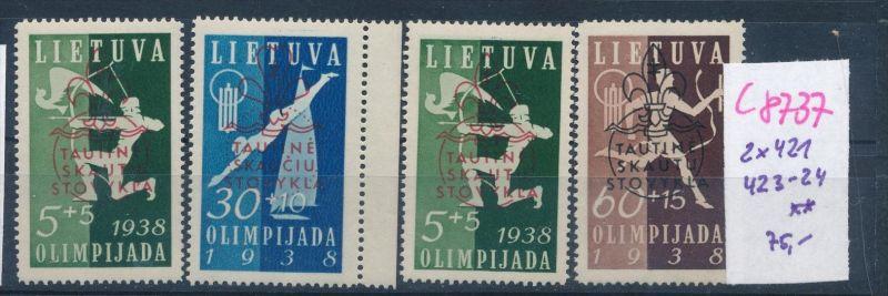 Litauen  Nr. 2x 421 ,423+24  **  (c8737  ) siehe scan