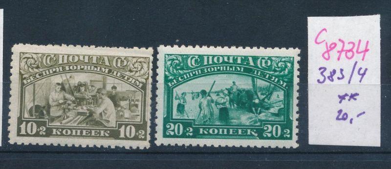 Russland  Nr. 383-4   **  (c8734  ) siehe scan