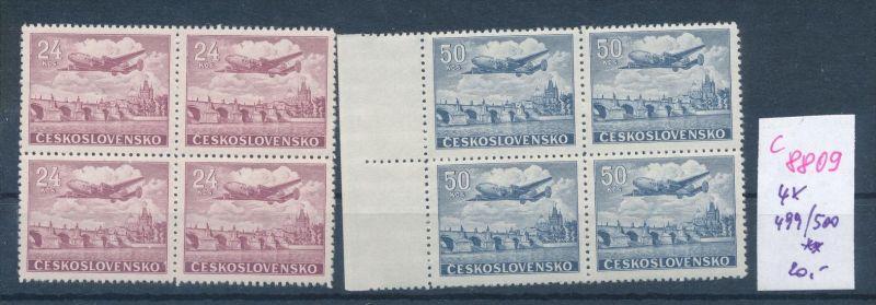 Tschechen  Nr.  4x 499-500    **     (c8809  ) siehe scan