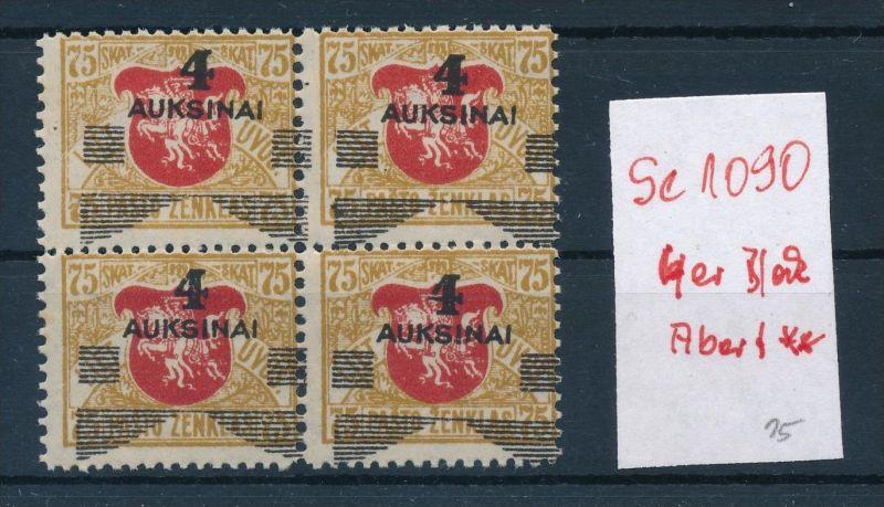 Litauen  4er Block Abart    **     (se1090   ) siehe scan )