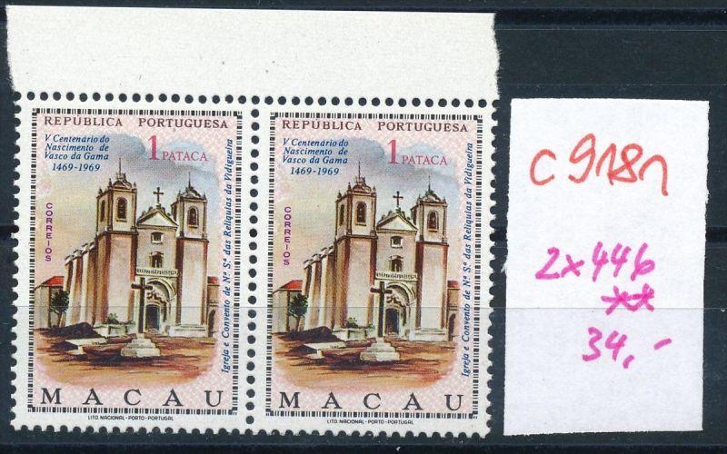 Macao  Nr.  2x 446   **  (c9181  ) siehe scan