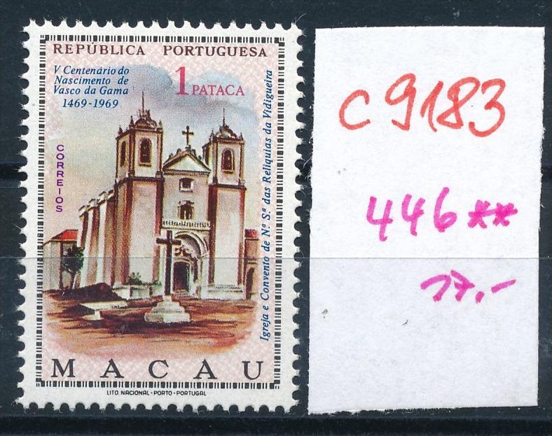 Macao  Nr.  446   **  (c9183  ) siehe scan