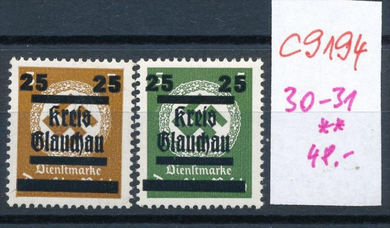 Glauchau  Nr. 30+31  ** (c9194  ) siehe scan