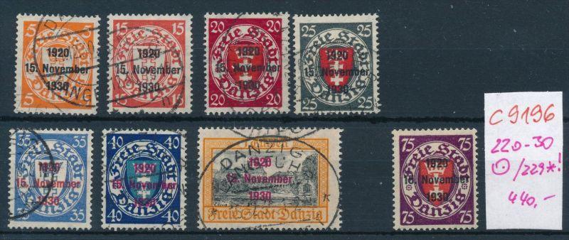 Danzig Nr. 220-30 o ; 229 *   (c9196  ) siehe scan