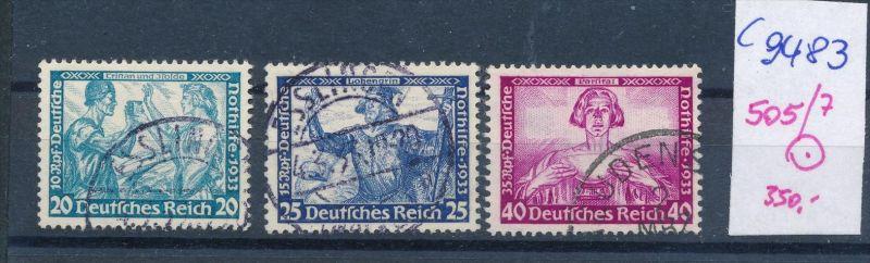 D.-Reich Nr. 505-7  o  (c9483 ) siehe scan