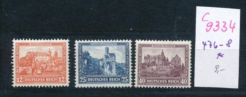 D.-Reich Nr.  476-8  *  (c9334  ) siehe scan  vergrößert