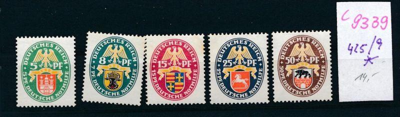 D.-Reich Nr.  445-9 *  (c9339  ) siehe scan  vergrößert