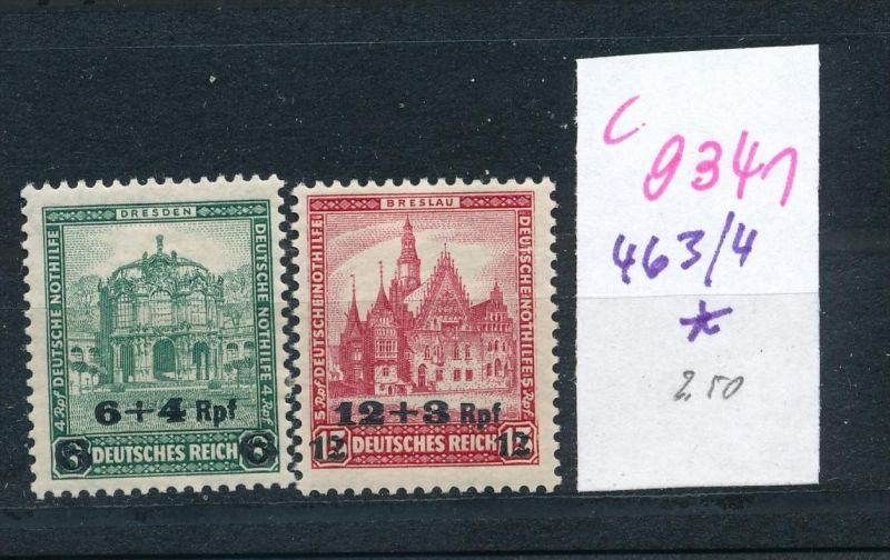 D.-Reich Nr.  463-4   *  (c9341  ) siehe scan  vergrößert