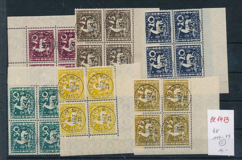 Würtemberg Nr. 4x 144-49  Gefälligkeits - o    (se1413   )  siehe scan