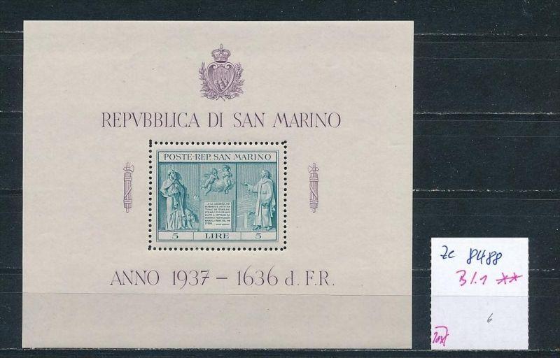 San Marino Nr. Block 1 **  (ze8488 ) siehe scan